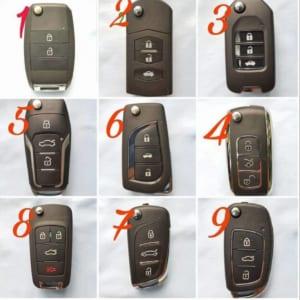 Mẫu chìa khoá Remote gập