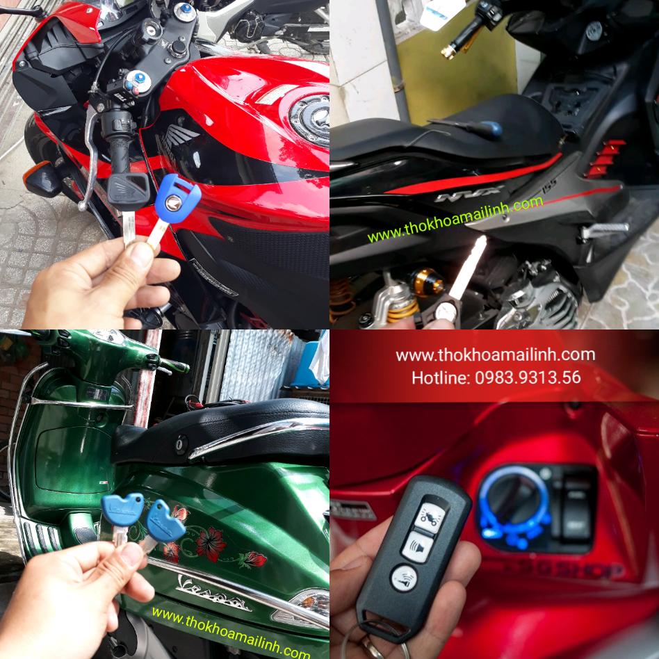 Sửa khoá xe máy giỏi các quận Tphcm